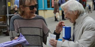 Dr Gwen Owen, 95, became chair of VSO Gloucestershire supporter group 45 years ago. Today she is still honourary chair, taking part in a series of street collections every year.