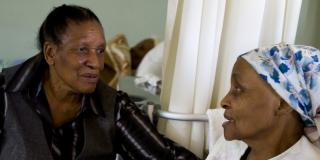 Nurse and patient in South Africqa