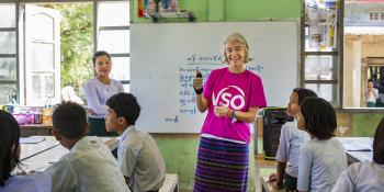 VSO education volunteer Ana Paula Pinto in Myanmar