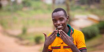Sakindi Frank, a student from at Umutara School for Deaf children.