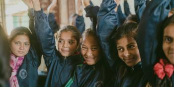 Schoolgirls in Nepal