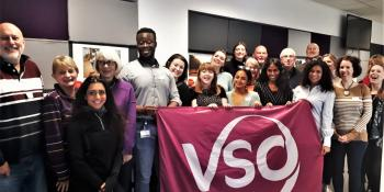 VSO speakers at the VSO offices in London