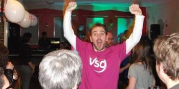 This guy is super happy to have put on a fundraising event for VSO