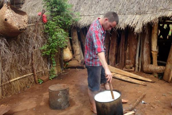 Bake Off's David Atherton cooks over a village fire in Malawi | VSO