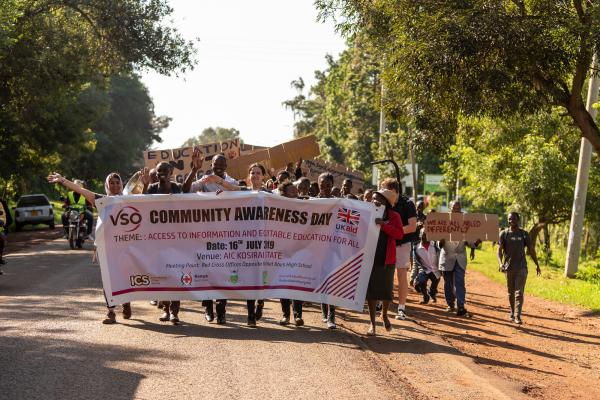 ICS volunteers in Kenya march to raise awareness of education rights for all