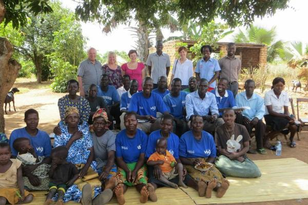Sue Howes and Greg Dyke visit the YELG project in Uganda