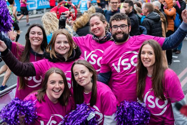 VSO staff at London Marathon