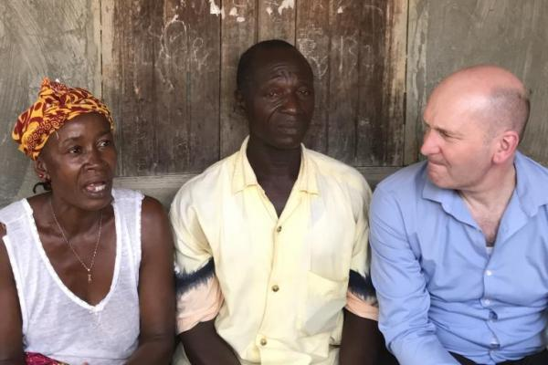 VSO CEO Philip discusses local issues in Sierra Leone