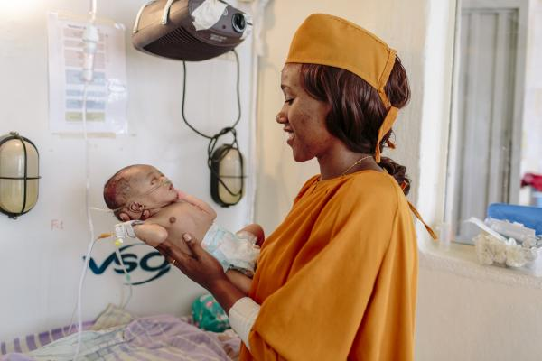 NICU (Neonatal Intensive Care Unit) nurse Firhiwot Dagne in the NICU at Arba Minch General Hospital