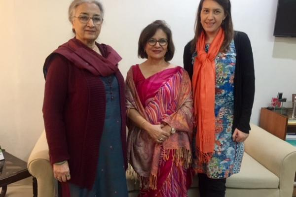 With Madam Chair National Women's  Commission and VSO Pak Representative